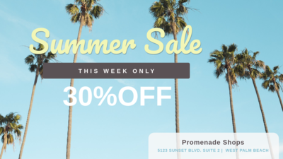 Summer Sale on Digital Signage
