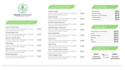 Cafe Menus on Digital Signage